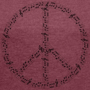 Musical Hippie - Women's T-shirt with rolled up sleeves