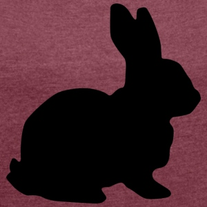 rabbit 153203_1280 - Women's T-shirt with rolled up sleeves
