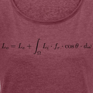 Transport equation of light. - Women's T-shirt with rolled up sleeves
