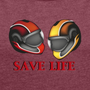 helmets - Women's T-shirt with rolled up sleeves