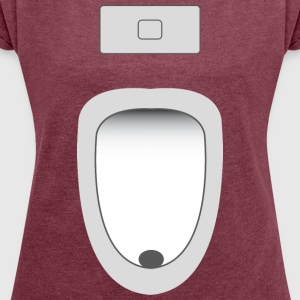 urinal - Women's T-shirt with rolled up sleeves