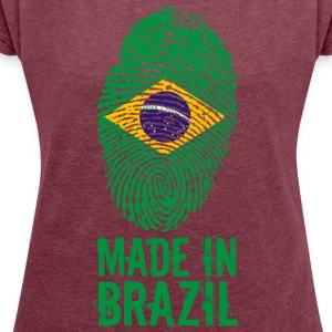 Made in Brazil / Made in Brazil Brasil - Women's T-shirt with rolled up sleeves