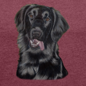 Flat-Coated retriever - Women's T-shirt with rolled up sleeves