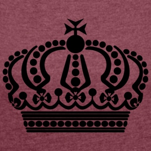 crown keep calm - Women's T-shirt with rolled up sleeves
