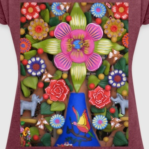 tree of Life_ - Women's T-shirt with rolled up sleeves