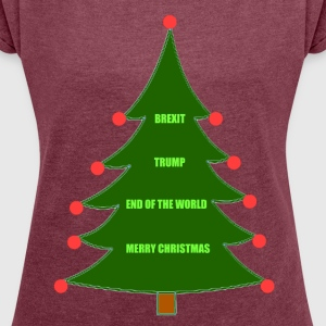 Brexit Trump Christmas - Women's T-shirt with rolled up sleeves