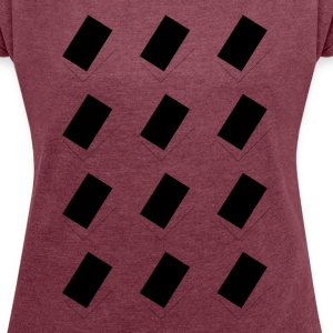 geometric Space - Women's T-shirt with rolled up sleeves