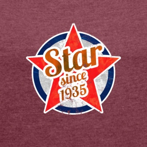 Gift for Stars born in 1935 - Women's T-shirt with rolled up sleeves