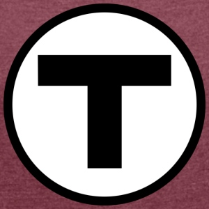 MBTA-svg - Women's T-shirt with rolled up sleeves