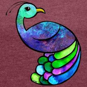 peacock - Women's T-shirt with rolled up sleeves