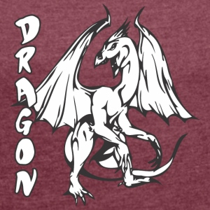 standing dragon - Women's T-shirt with rolled up sleeves
