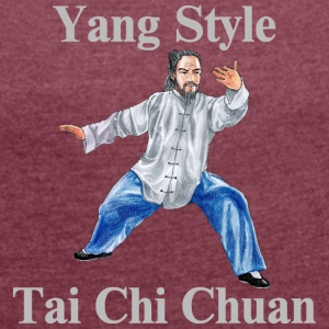Tai Chi Chuan Yang Style - Women's T-shirt with rolled up sleeves