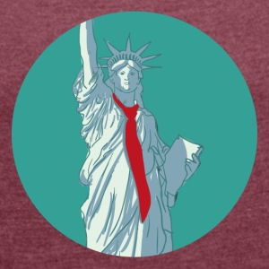 Trump Statue of Liberty - Women's T-shirt with rolled up sleeves