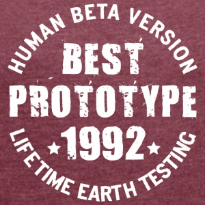 1992 - The birth year of legendary prototypes - Women's T-shirt with rolled up sleeves