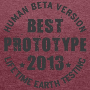 2013 - The birth year of legendary prototypes - Women's T-shirt with rolled up sleeves