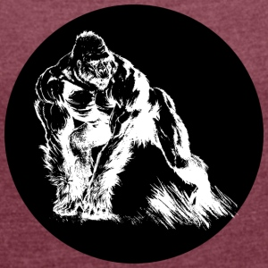 Gorilla - Women's T-shirt with rolled up sleeves