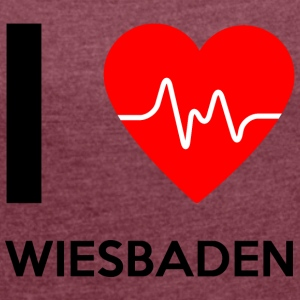 I Love Wiesbaden - I love Wiesbaden - Women's T-shirt with rolled up sleeves