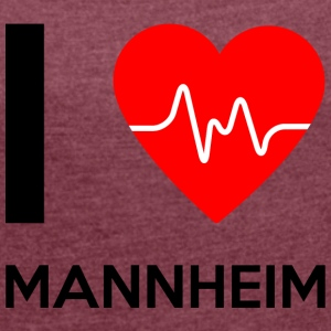 I Love Mannheim - I love Mannheim - Women's T-shirt with rolled up sleeves