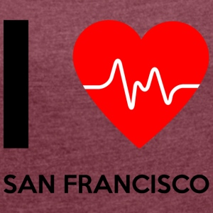 I Love San Francisco - I love San Francisco - Women's T-shirt with rolled up sleeves