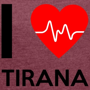 I Love Tirana - I Love Tirana - Women's T-shirt with rolled up sleeves