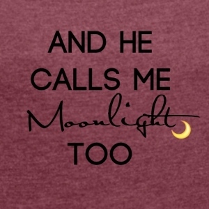 Moonlight - Dame T-shirt med rulleærmer