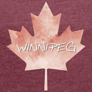 Maple Leaf Winnipeg - T-shirt med upprullade ärmar dam