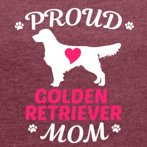 Golden Retriever mother - Women's T-shirt with rolled up sleeves