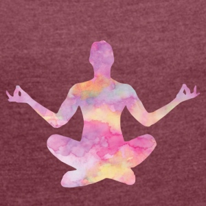 YOGA är mitt liv COLLECTION - T-shirt med upprullade ärmar dam