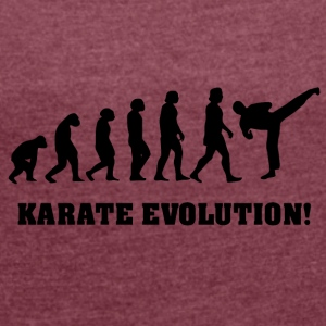 Karate evolution - Women's T-shirt with rolled up sleeves