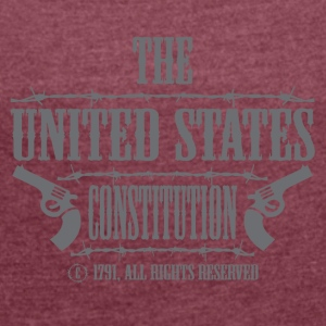The Amerikanschische Constitution - Women's T-shirt with rolled up sleeves