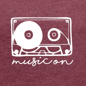 Music On - Musik Passion - Dame T-shirt med rulleærmer