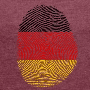 German fingerprint - Women's T-shirt with rolled up sleeves
