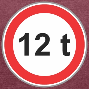Road sign 12t - Women's T-shirt with rolled up sleeves