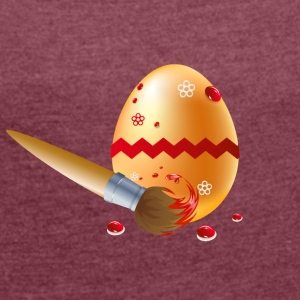 Easter Egg - Vector - Women's T-shirt with rolled up sleeves