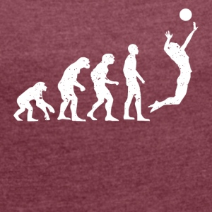 VOLLEYBOLL EVOLUTION! - T-shirt med upprullade ärmar dam