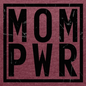 MOMPWR - Women's T-shirt with rolled up sleeves