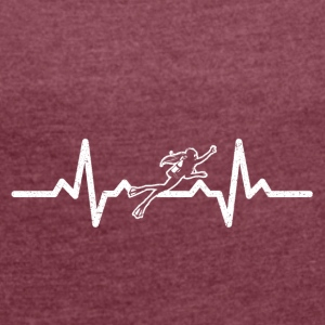My heart beats for diving - Women's T-shirt with rolled up sleeves