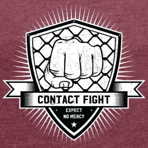 Contact Fight Vintage - Women's T-shirt with rolled up sleeves