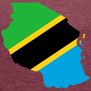 Tanzania - Women's T-shirt with rolled up sleeves