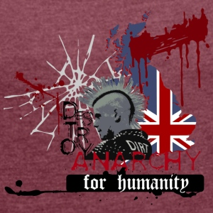 ANARCHY FOR HUMANITY - Women's T-shirt with rolled up sleeves