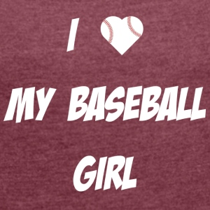 Baseball Girl - Women's T-shirt with rolled up sleeves