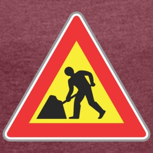 Road sign rapir works - Women's T-shirt with rolled up sleeves