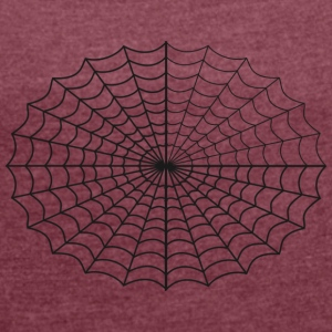 Spider web - Women's T-shirt with rolled up sleeves