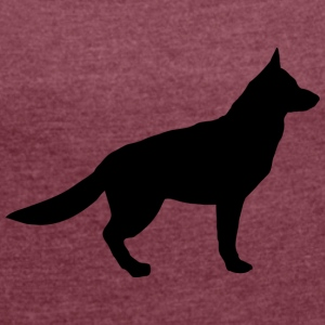 german shepherd - Women's T-shirt with rolled up sleeves