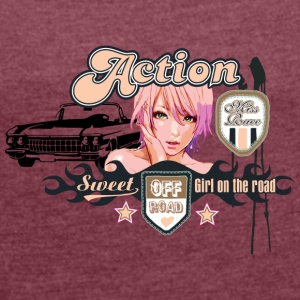 action - Women's T-shirt with rolled up sleeves