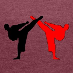Kickboxer MMA 2 Fighter Shadow Style - Women's T-shirt with rolled up sleeves