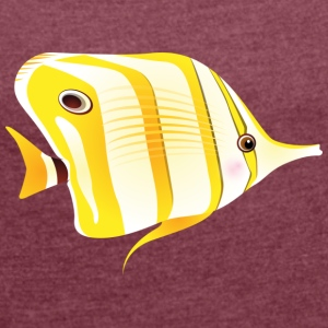 Sweet fish - Women's T-shirt with rolled up sleeves