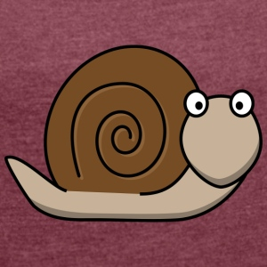 Snail brown - Women's T-shirt with rolled up sleeves