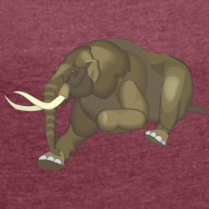 Big Elephant - Women's T-shirt with rolled up sleeves