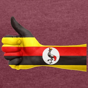 uganda collection - Frauen T-Shirt mit gerollten Ärmeln